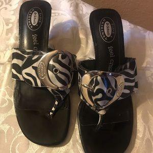Dr Scholl's Zodiac zebra pattern sandal